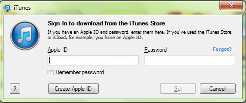Apple ID Sign In Pop-up