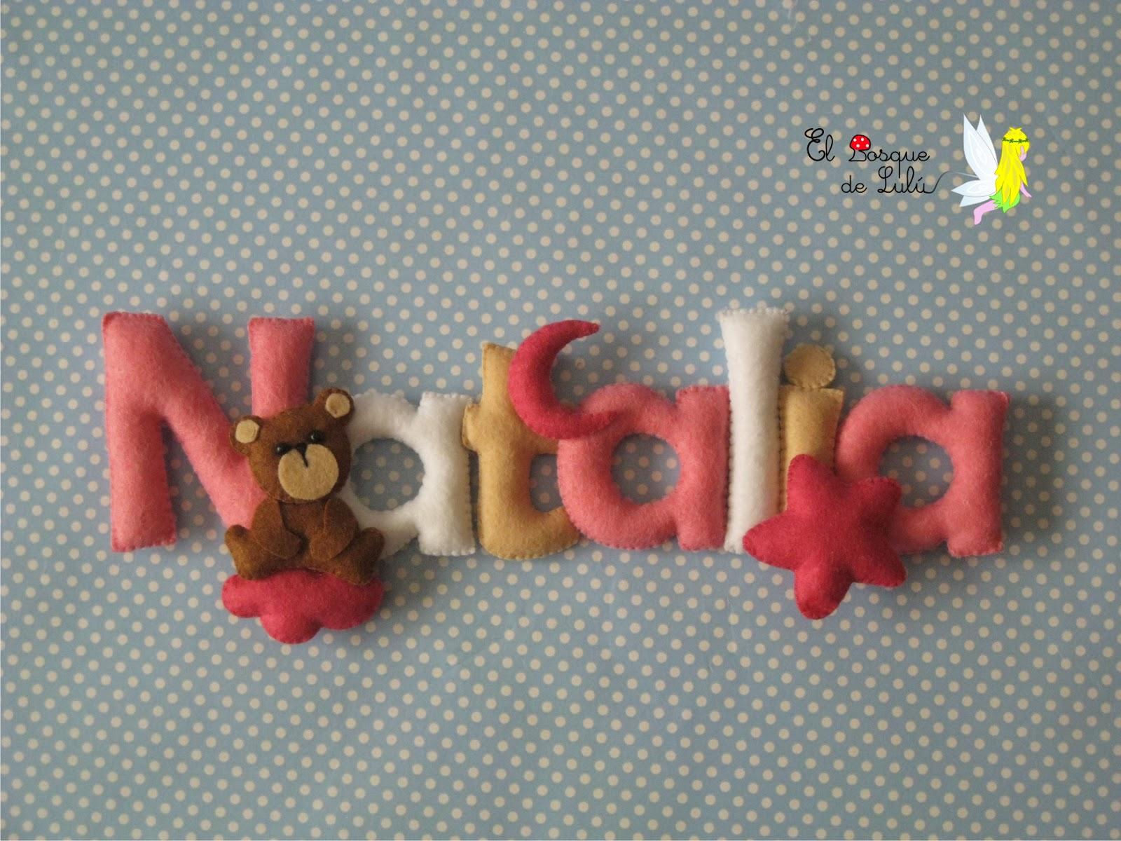 nombre-fieltro-Natalia-decoración-name-banner-infantil