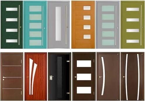 warna motif pintu rumah dengan 1 daun pintu