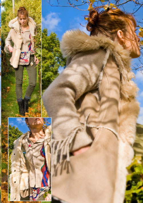 Psynopsis Vintage Sheepskin Vest DIY Bumbag and Jacket Next Trousers Collage