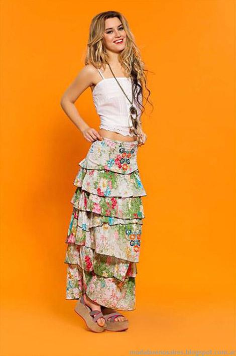 Maxifaldas moda mujer 2015 Sophya moda 2015 ropa.