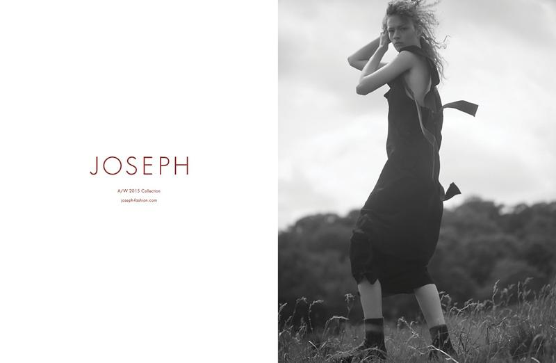 Sophia Ahrens in Joseph Fall/Winter 2015 campaign (photography: David Sims) / best fashion ad campaigns fall/winter 2015 / via fashioned by love british fashion blog
