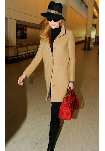 Nicole Kidman abrigo camel