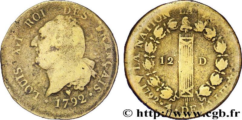 julen numismatika monedas luis xvi constitucionales metal de campana cloche. Black Bedroom Furniture Sets. Home Design Ideas