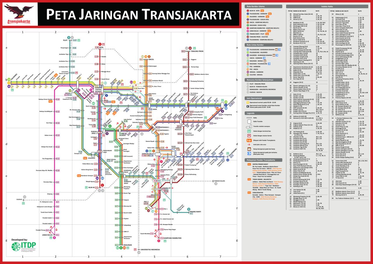 Daftar Koridor Trayek Transjakarta Fahreza Arief