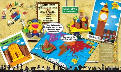 Games: Monuments on the Map - Worldwide by Imagimake (Age: 5 to 8)
