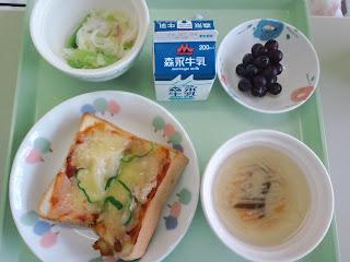 写真:パルス入院2クール初日の朝食