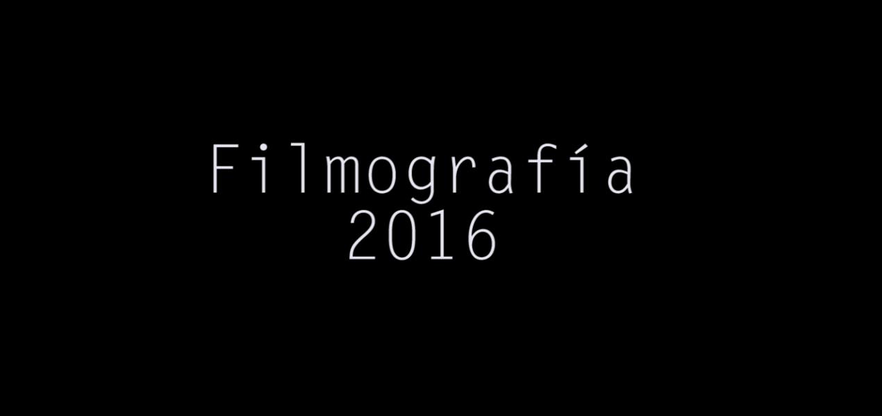 Filmografía 2016