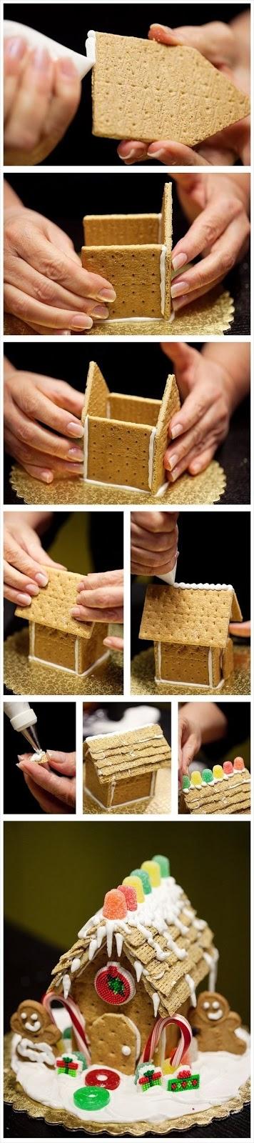 бисквитена къща за коледа