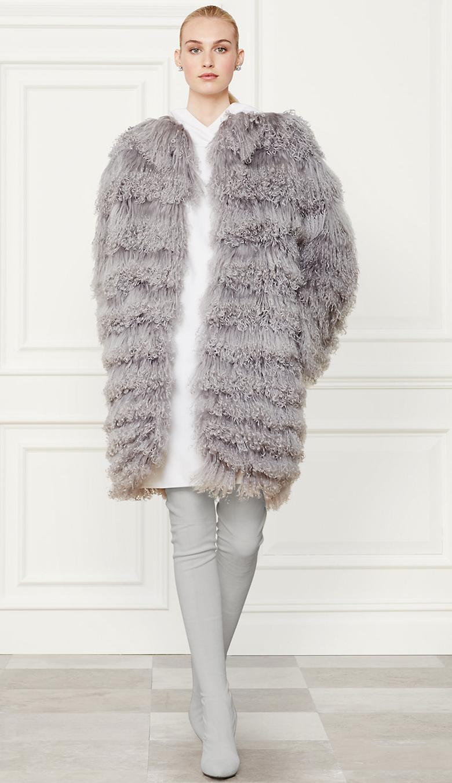 Ralph Lauren Shearling Veronica Coat Fall 2014 Collection