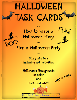 photo of Halloween Task Cards and Writing Activities, PDF, Ruth S. TeachersPayTeachers.com