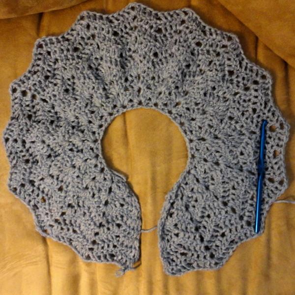 Delias Crochet Chevron Cardigan