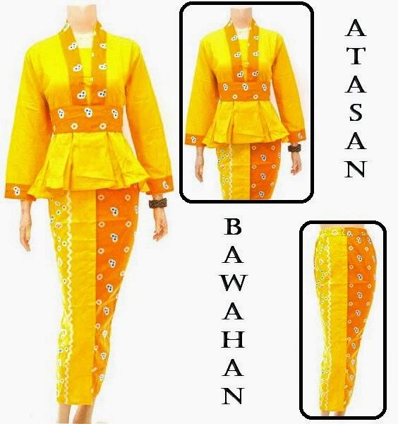 Baju Muslim batik motif jumputan