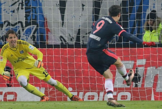 Results Hamburg vs Bayern Munich 1-2 goals from Robert Lewandowski