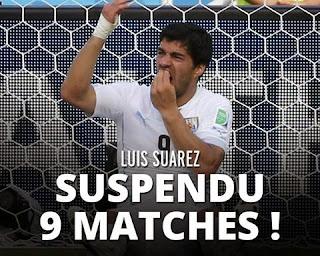 Coupe du monde : la sanction contre Luis Suarez fait débat chez les supporters