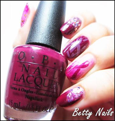 pink nails opi