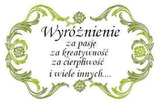 Wyróżnienie od Ciapary mojerobotkowanie.blogspot.com