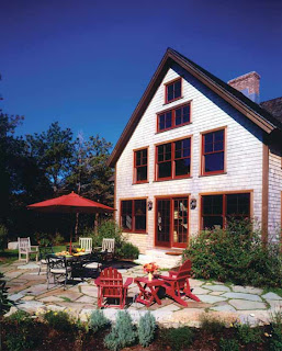 this farmhouse post and beam home is located on marthas vineyard