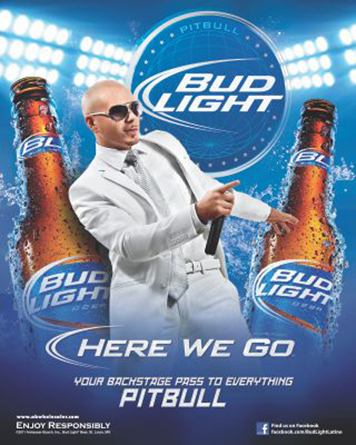Bud light re ups with pitbull music marketing bud light re ups with pitbull aloadofball Gallery