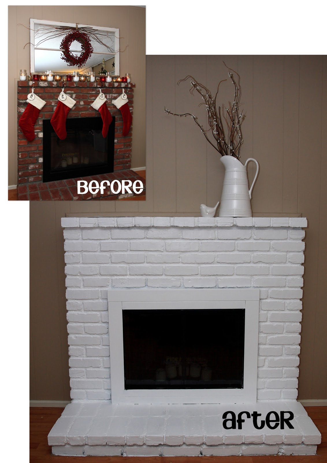 painted brick fireplace yellow bliss road