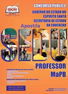 apostila sedu-es concurso magistério - professor edital 2015.