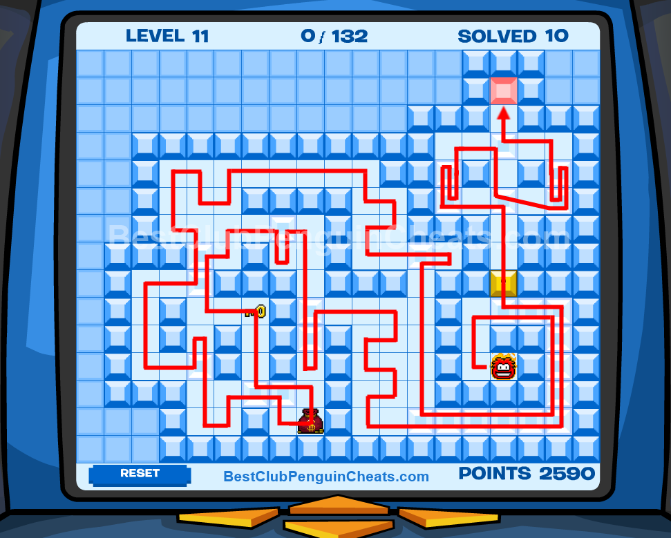 Club Penguin Thin Ice Cheats Level 11