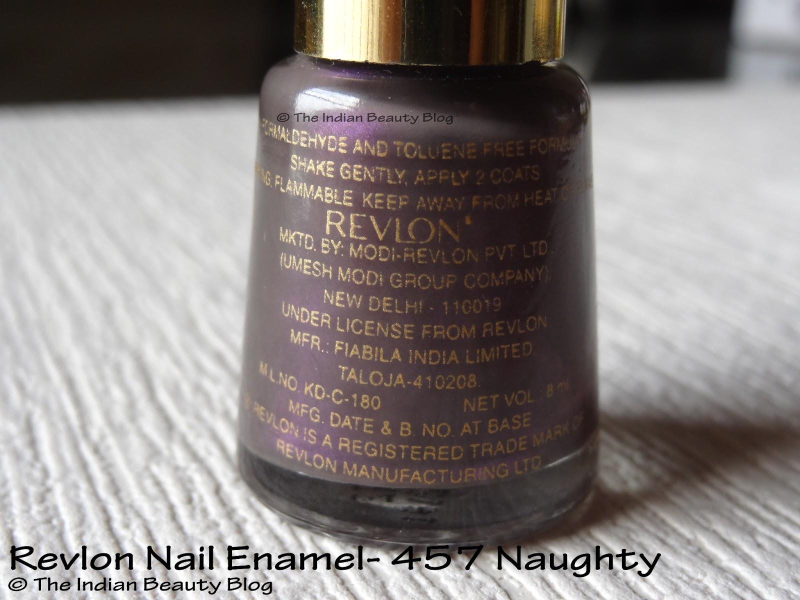 Revlon Nail Enamel- 457 \'Naughty\': Review, NOTD - The Indian Beauty Blog