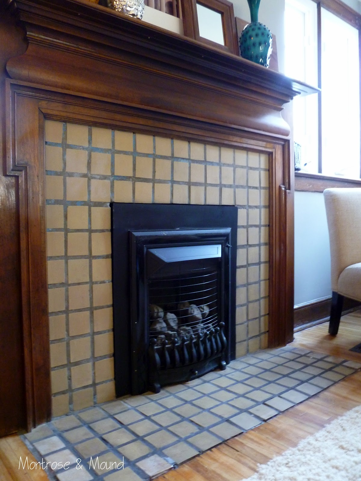 How To Paint Fireplace Tile Montrose Amp Mound