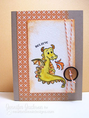 Dragon Card for Newton's Nook Designs Inky Paws Challenge #3