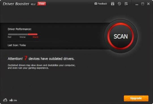 Download Driver Booster 1.4.0.61 scans and identifies outdated drivers automatically