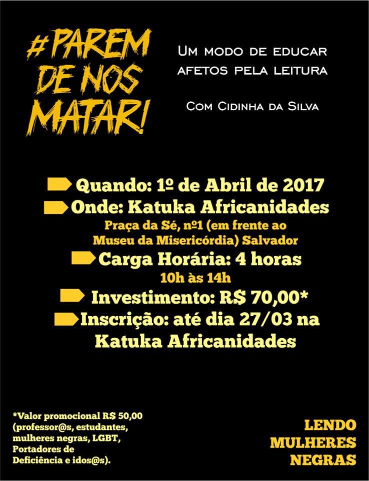 CURSO #PAREM DE NOS MATAR! - UMA FORMA DE EDUCAR AFETOS PELA LEITURA