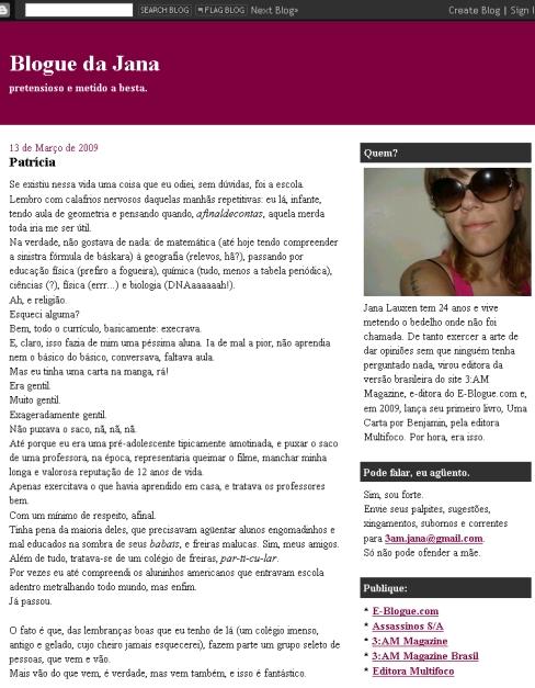 Visite Blogue da Jana