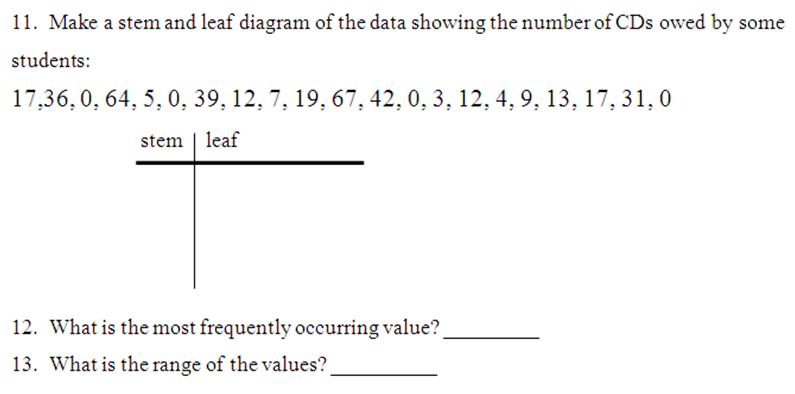 Miss Kahrimaniss Blog Stem and Leaf PlotsCharts – Stem and Leaf Plot Worksheet