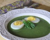 Spinach Soup with Perfect Hard-Cooked Eggs