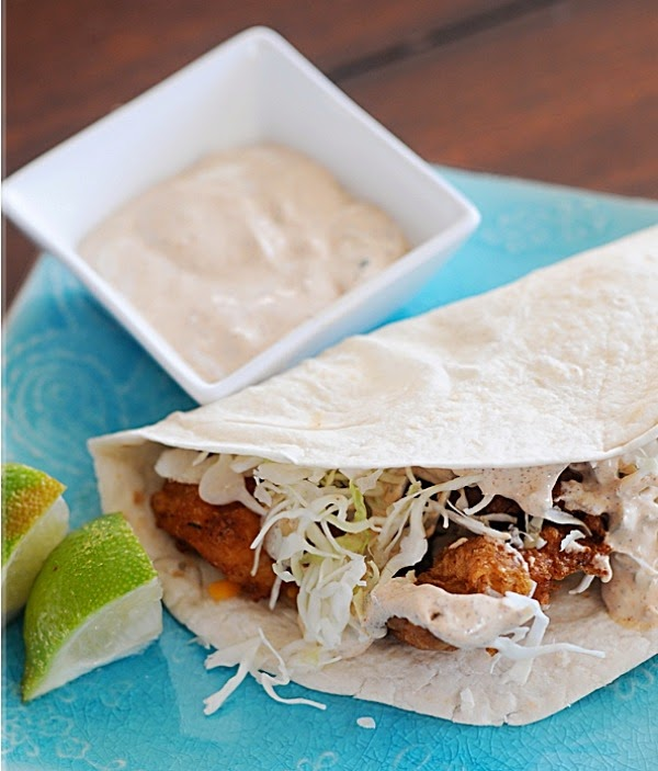 Bon appetito beer battered fish taco 39 s with baja sauce for Fish taco batter