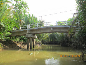 """Mekong Delta"" tour on a Canoe boat."
