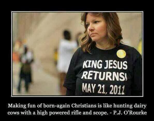 Funny King Jesus Returns May 2011 Joke Picture