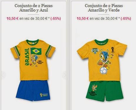 Conjuntos para niño de Brasil 2014