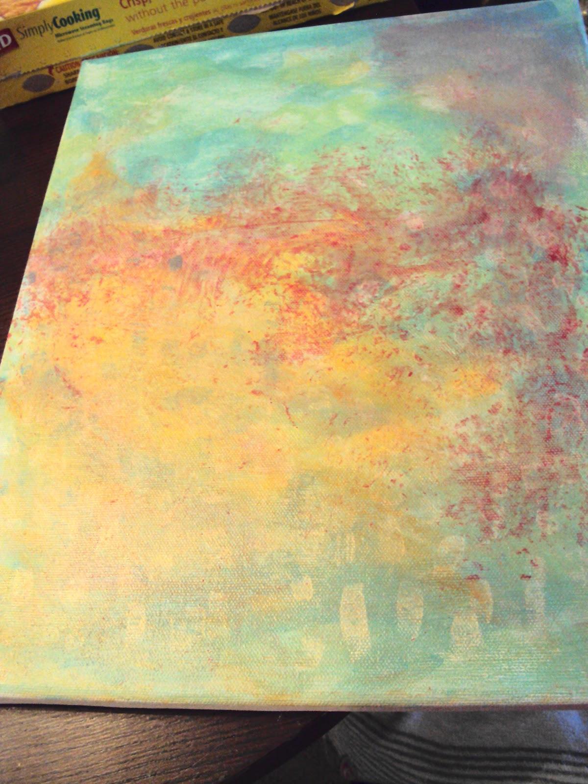 My Semi Grownup Life: DIY Abstract Art