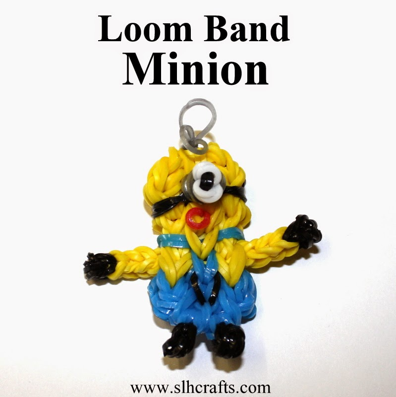 minion loom band keyring