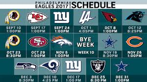 2017 Eagles Schedule