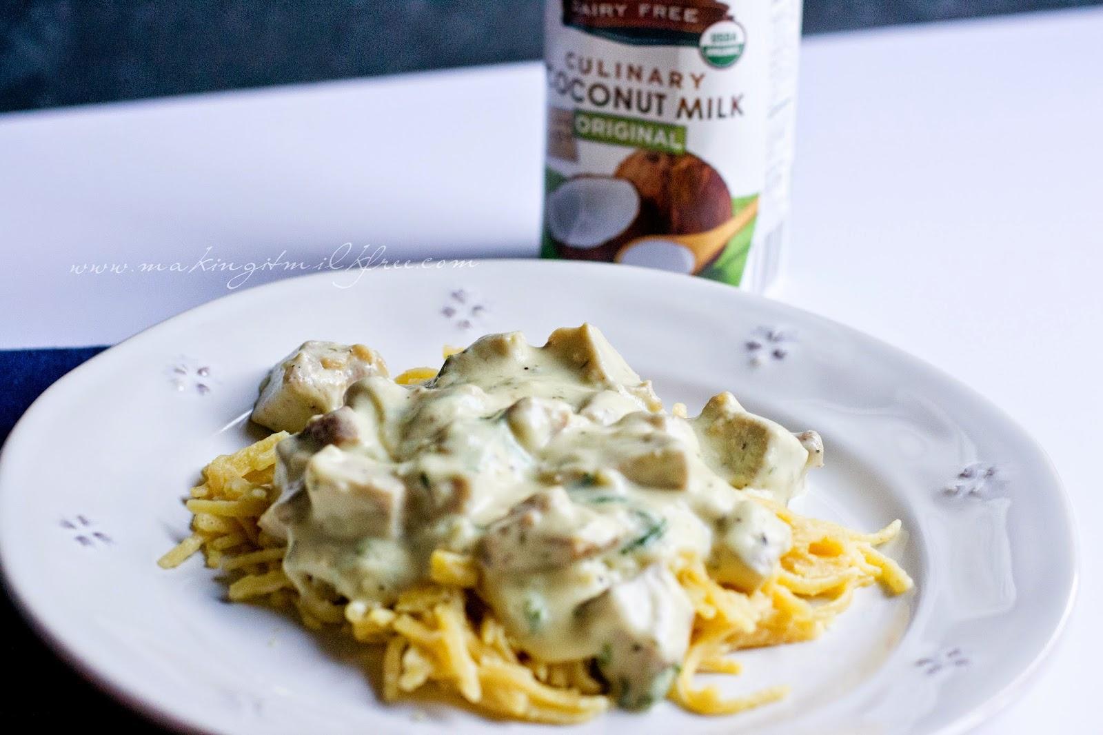 #dairyfree #glutenfree #chicken #pasta #alfredo