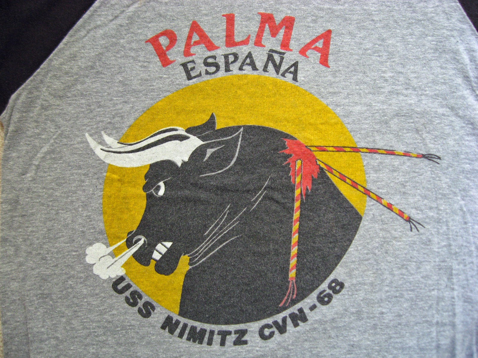 My USS Nimitz Palma Spain shirt from that visit. Still have it!