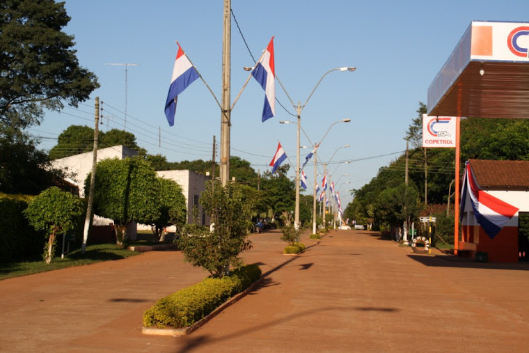 La doble avenida de la ciudad.