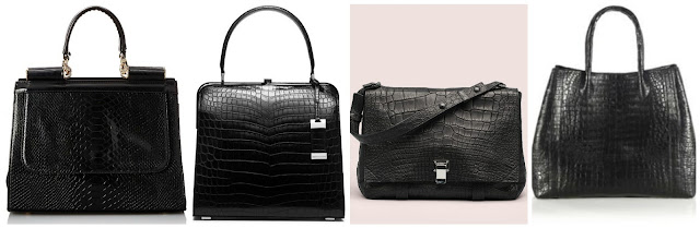 One of these crocodile handbags is from MG Collection for $24 and the other three are from designers for thousands of dollars (of course, they are also real crocodile). Can you guess which one is the more affordable bag? Click the links below to see if you are correct!