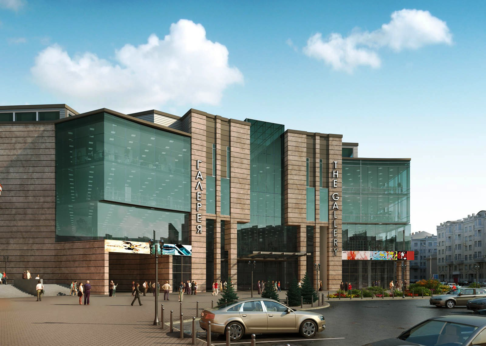 3D Front Elevationcom Rendering Views Factory Design