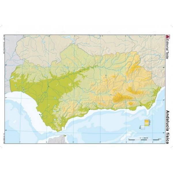 Mapa Rios Andalucia Mudo