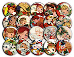 Buttons for Christmas Stockings, Gifts, Tags, Party Favors or for Wearing!