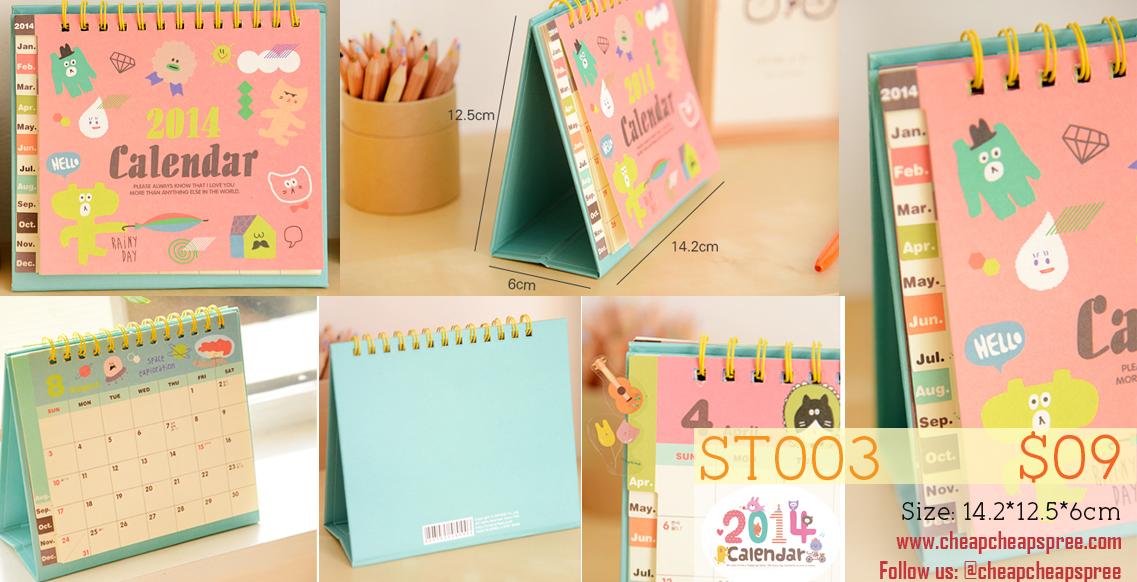 Diy Calendar Singapore : Calendar stamps diy korean stationery spree