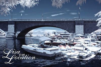London Bridge, marina, false-color infrared, Lake Havasu City, Arizona, New Braunfels photographer